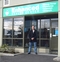 David Wolynec outside the Enhanced Health Center Clinic